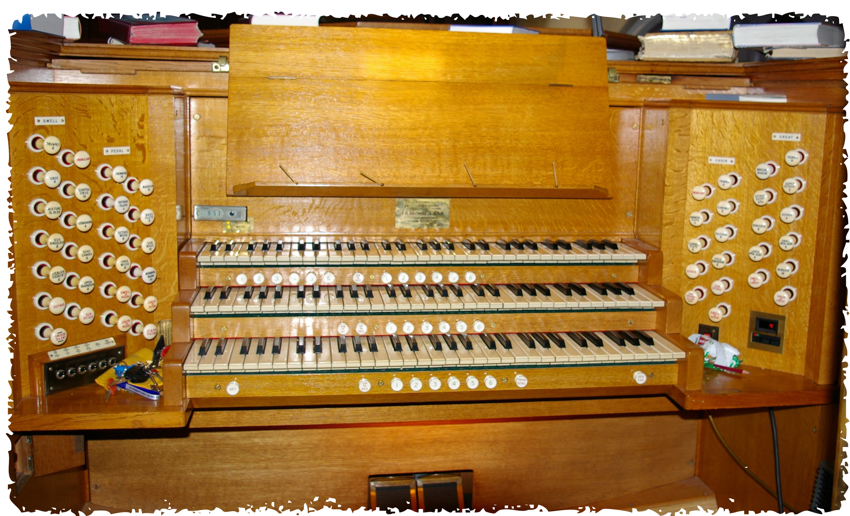 Organ at Trinity URC